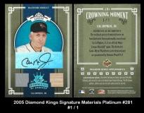 2005 Diamond Kings Signature Materials Platinum #281