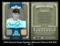 2005 Diamond Kings Signature Materials Platinum BW #281