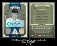 2005 Diamond Kings Signature Materials Silver BW #281
