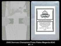 2005 Donruss Champions Press Plates Magenta #242
