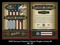 2005 Donruss Classics Classic Singles Jersey #8