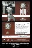 2005 Donruss Classics Home Run Heroes Jersey HR #48