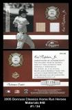 2005 Donruss Classics Home Run Heroes Materials #48