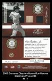 2005 Donruss Classics Home Run Heroes Materials Prime #48