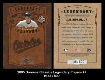 2005 Donruss Classics Legendary Players #7