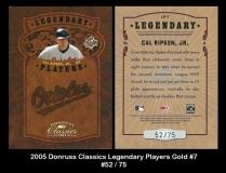 2005 Donruss Classics Legendary Players Gold #7