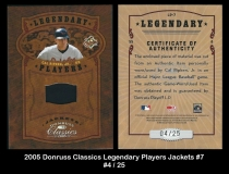 2005 Donruss Classics Legendary Players Jackets #7