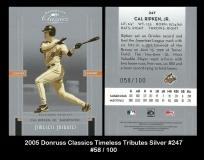 2005 Donruss Classics Timeless Tributes Silver #247