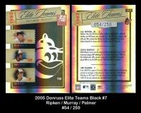 2005 Donruss Elite Teams Black #7