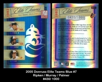 2005 Donruss Elite Teams Blue #7