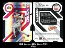 2005 Donruss Elite Status #153