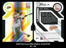 2005 Donruss Elite Status Gold #153