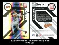2005 Donruss Elite Turn of the Century #153
