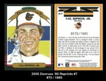 2005 Donruss '85 Reprints #7