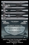2006 Topps Triple Threads White Whale Relic Combos #647
