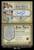 2006 Artifacts Auto-Facts Signatures #CR