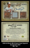 2006 Artifacts MLB Game-Used Apparel Autographs #CR