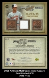 2006 Artifacts MLB Game-Used Apparel Gold Limited #CR