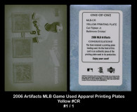 2006-Artifacts-MLB-Game-Used-Apparel-Printing-Plates-Yellow-CR