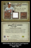 2006 Artifacts MLB Game-Used Apparel Silver Limited #CR
