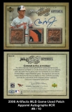 2006 Artifacts MLB Game-Used Patch Apparel Autographs #CR