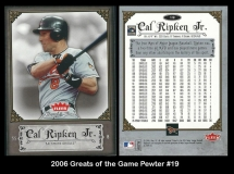 2006 Greats of the Game Pewter #19