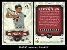 2006 SP Legendary Cuts #20