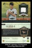 2006 SP Legendary Cuts Baseball Chronology Materials #CR
