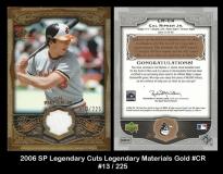 2006 SP Legendary Cuts Legendary Materials Gold #CR