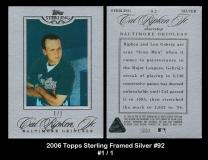 2006 Topps Sterling Framed Silver #92