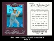 2006 Topps Sterling Framed Burgundy #81