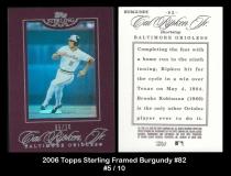 2006 Topps Sterling Framed Burgundy #82