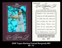 2006 Topps Sterling Framed Burgundy #83