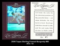 2006 Topps Sterling Framed Burgundy #85