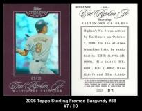 2006 Topps Sterling Framed Burgundy #88