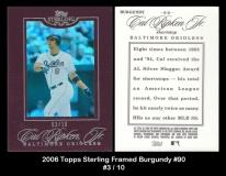 2006 Topps Sterling Framed Burgundy #90