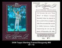 2006 Topps Sterling Framed Burgundy #95