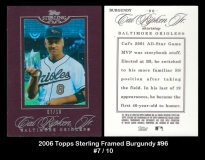 2006 Topps Sterling Framed Burgundy #96