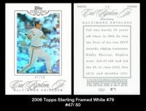 2006 Topps Sterling Framed White #79