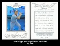 2006 Topps Sterling Framed White #81