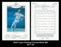 2006 Topps Sterling Framed White #82