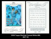 2006 Topps Sterling Framed White #86