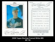 2006 Topps Sterling Framed White #89