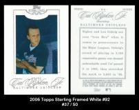 2006 Topps Sterling Framed White #92