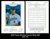 2006 Topps Sterling Framed White #96