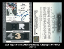 2006-Topps-Sterling-Moments-Relics-Autographs-CRHR20