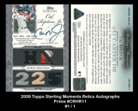 2006-Topps-Sterling-Moments-Relics-Autographs-Prime-CRHR11