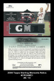 2006-Topps-Sterling-Moments-Relics-CRGAME1