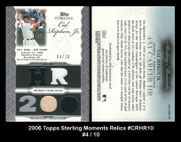 2006-Topps-Sterling-Moments-Relics-CRHR10
