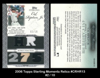 2006-Topps-Sterling-Moments-Relics-CRHR13
